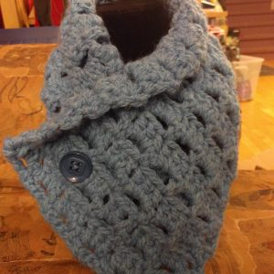 Blue Button Cowl